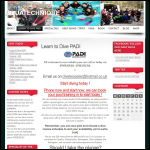 Screen shot of the Aquatechnique Scuba School website.