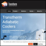 Screen shot of the Transtherm Cooling Industries Ltd website.