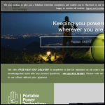 Screen shot of the Portable Power Technology Ltd website.
