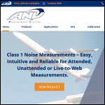 Screen shot of the ANV Measurement Systems website.