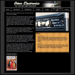 Screen shot of the Aston Electronics website.