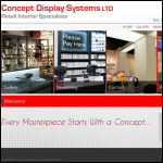 Screen shot of the Concept Display Systems (SW) Ltd website.