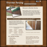 Screen shot of the Sheridan Fencing website.