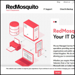 Screen shot of the Red Mosquito Ltd website.