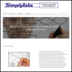 Screen shot of the Simplylabs Limited website.