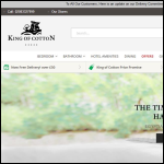 Screen shot of the King of Cotton website.