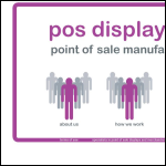 Screen shot of the POS Displays Ltd website.