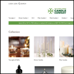 Screen shot of the Covent Garden Candle Co. website.