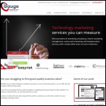 Screen shot of the Gauge Marketing Services website.