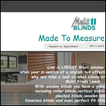 Screen shot of the Multi Blinds website.