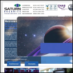 Screen shot of the Saturn Security Installations Ltd website.