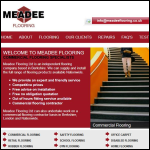 Screen shot of the Meadee Flooring Ltd website.