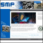 Screen shot of the Sheet Metal Precision Ltd website.