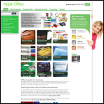 Screen shot of the Apple Office Solutions Ltd website.