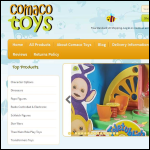 Screen shot of the Comaco Toys website.