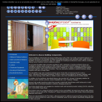 Screen shot of the Abacus Building Components website.