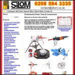 Screen shot of the Silom International Ltd website.