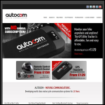 Screen shot of the Autocom Products Ltd website.