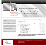 Screen shot of the Innovative Technologie website.