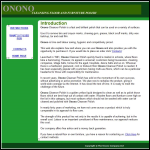 Screen shot of the Onono Co Ltd website.