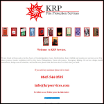 Screen shot of the KRP Fire Protection Services Ltd website.