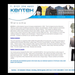 Screen shot of the Kentex Jeans & Casuals website.