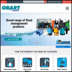 Screen shot of the Obart Pumps Ltd website.