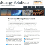 Screen shot of the Energy Solutions website.