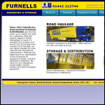 Screen shot of the Furnell Transport website.