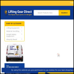 Screen shot of the Lifting Gear Direct Ltd website.