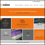 Screen shot of the Exbos Ltd website.