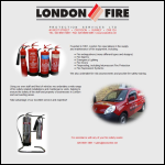 Screen shot of the London Fire Protection Services Ltd website.