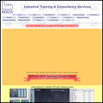 Screen shot of the Intacs Industrial Training website.