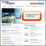 Screen shot of the Onsite Insights Ltd website.