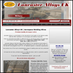 Screen shot of the Lancaster Alloys website.