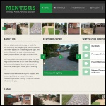 Screen shot of the Minters Paving website.