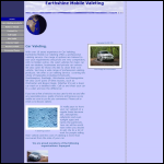 Screen shot of the Earthshine Mobile Valeting website.