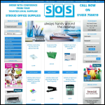 Screen shot of the Stroud Office Supplies website.