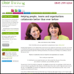 Screen shot of the The Clear Thinking Partnership website.