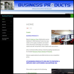 Screen shot of the Business Products website.