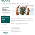 Screen shot of the Polaris Quality & Environmental Management Systems website.