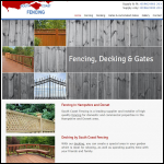 Screen shot of the South Coast Fencing website.