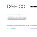 Screen shot of the Davelco website.