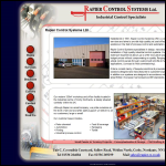Screen shot of the Rapier Control Systems Ltd website.