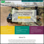Screen shot of the Ridgeway Components Ltd website.