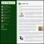 Screen shot of the Liftmann website.