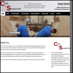 Screen shot of the Cross & Sansam Ltd website.