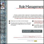 Screen shot of the Role Management International website.