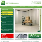 Screen shot of the Make Space Self Storage website.