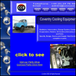 Screen shot of the Coventry Cooling Equipment Ltd website.